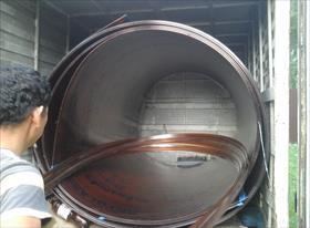 Перевозка поликарбоната 10мм в рулонах 2,5 листа (30 м погон)