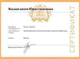 Сертификат Высшей школы