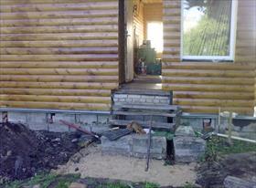 Постройка крыльца на дачах в Орудьево