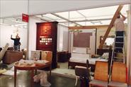 Монтаж стенда итальянской мебели.
