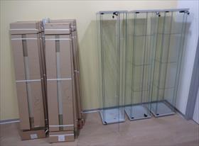 Сборка витринных модулей из стекла