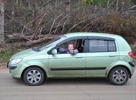 Курьер на машине