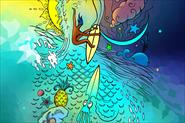 Рекламный плакат для серф школы