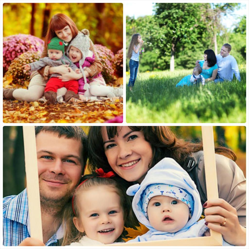 семейная фотосессия на природе с ребенком