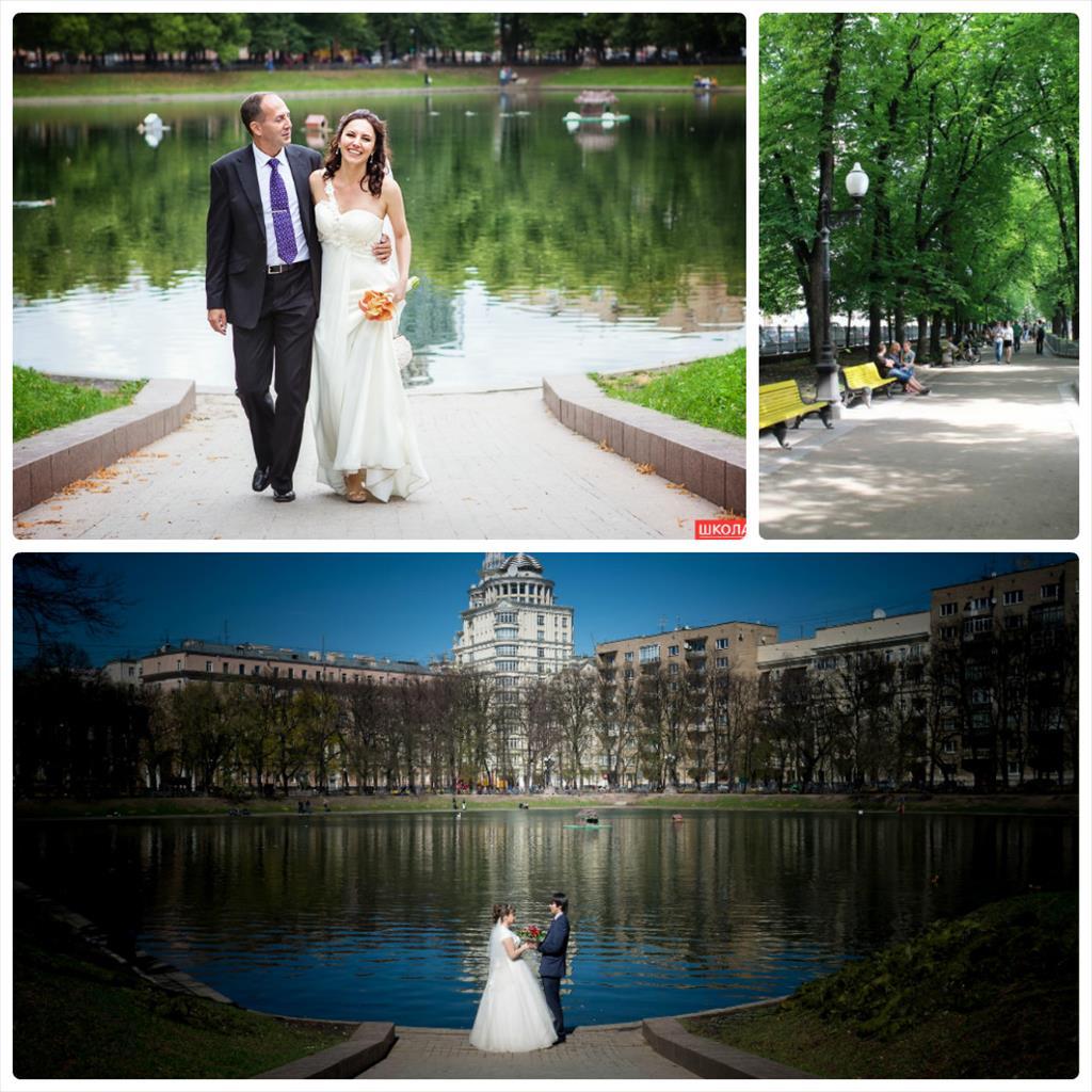 места для свадебных фотографий в москве