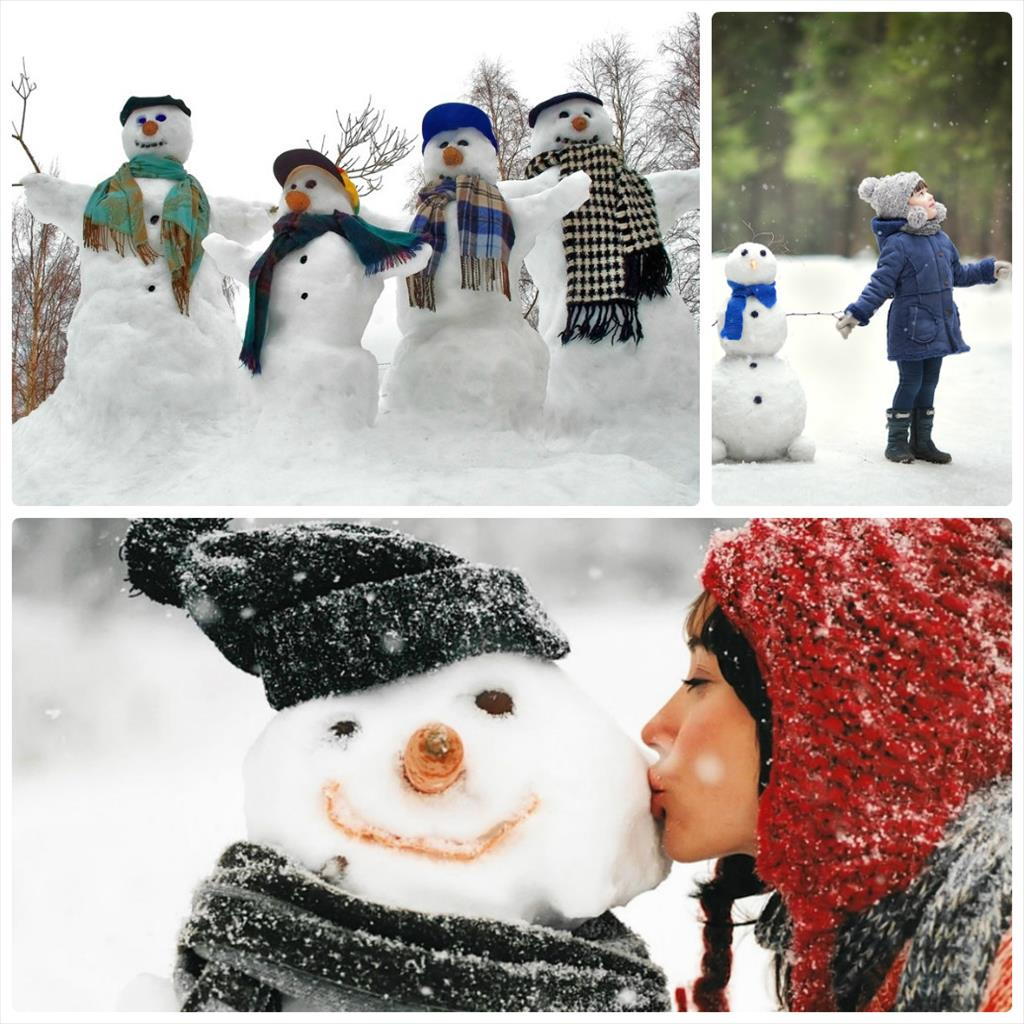 зимняя детская фотосессия на улице