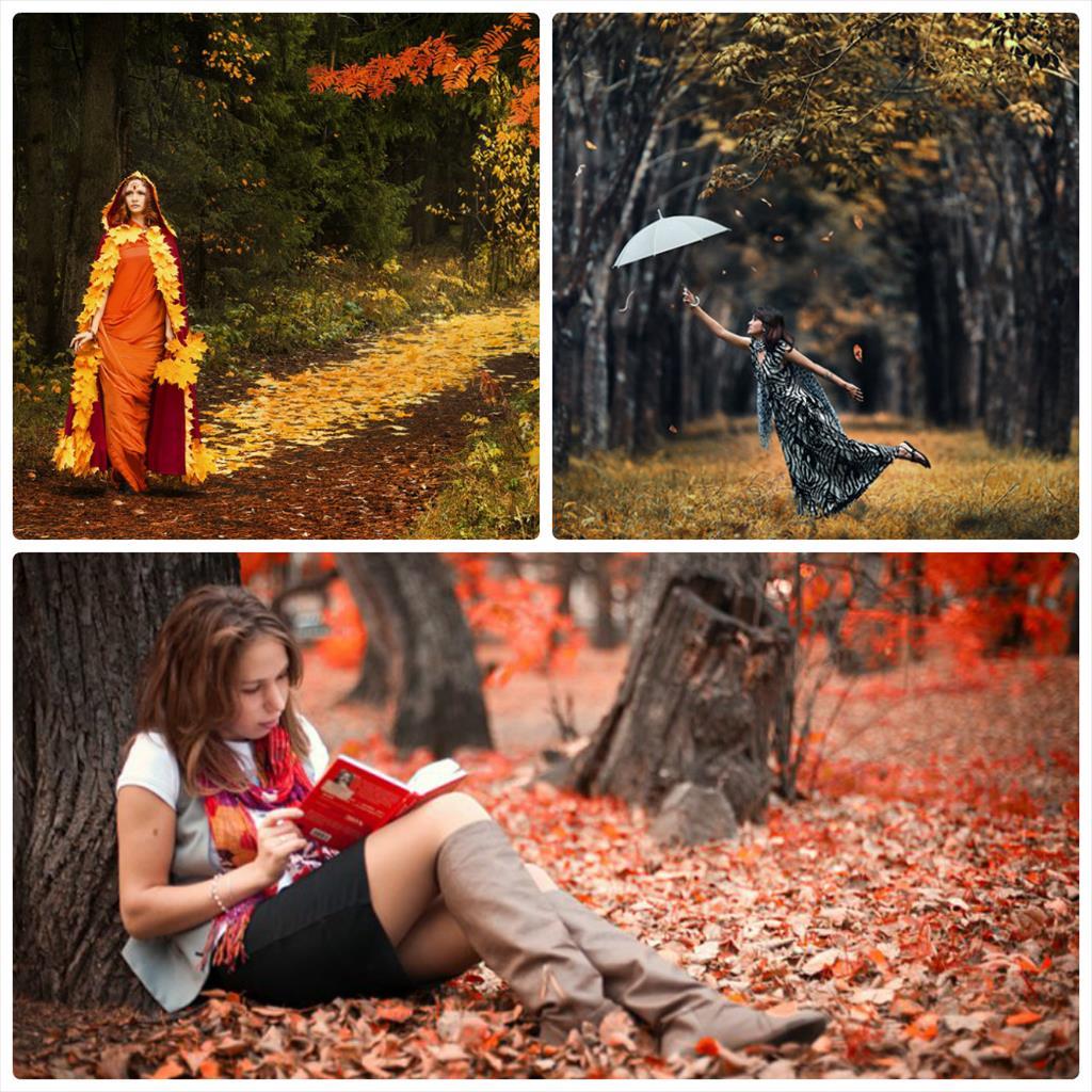фотосессия осень девушки