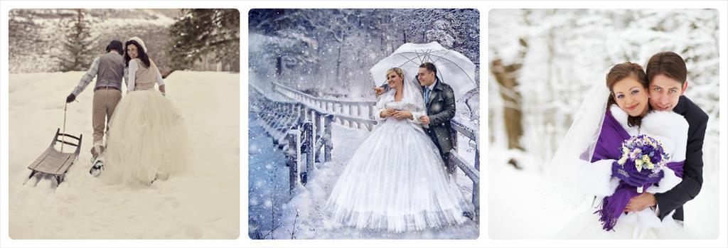 зимняя фотосессия свадебная
