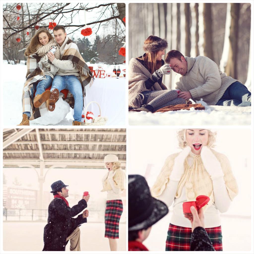 фотосессия пары зимой на улице