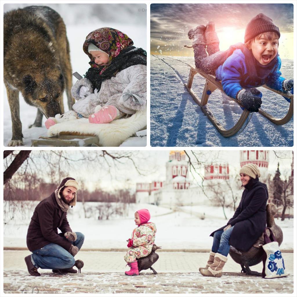 зимняя фотосессия дети