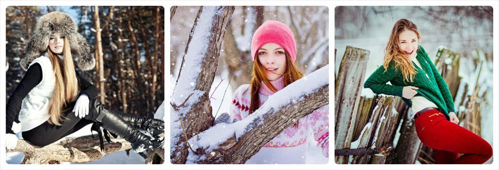 идеи фотосессия зимой на улице