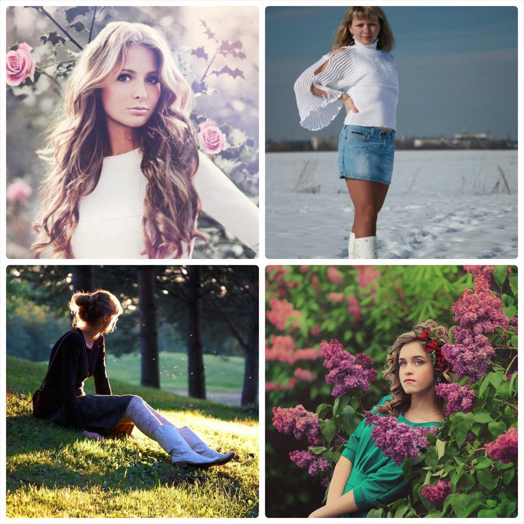 весенние фотосессии девушек