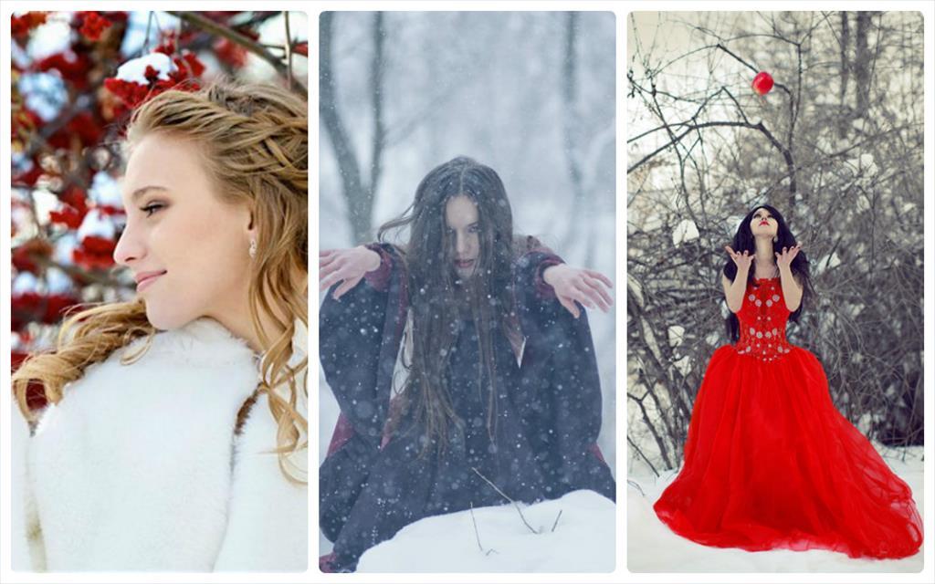 фотосессия в лесу зимой идеи фото