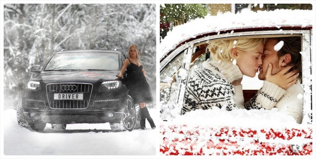 парные фотосессии зимой